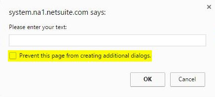 JS Prompt Dialog