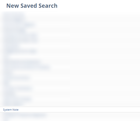 Select system notes saved search type
